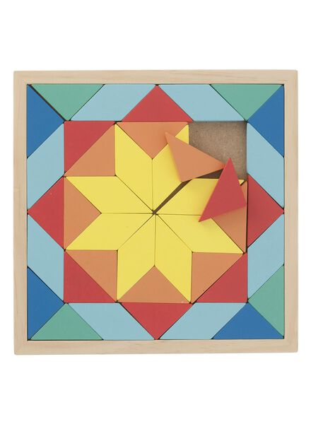 houten mozaïek puzzel - 15110215 - HEMA