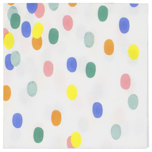 servetten - 24 x 24 - papier - confetti - 20 stuks - 14200286 - HEMA