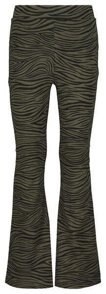 kinderlegging flared zebra legergroen 134/140 - 30875928 - HEMA