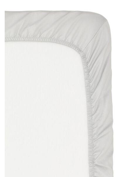 hoeslaken - hotel katoensatijn - 90 x 220 cm - lichtgrijs - 5150003 - HEMA