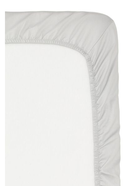 hoeslaken - hotel katoensatijn - 180 x 220 cm - lichtgrijs - 5150007 - HEMA