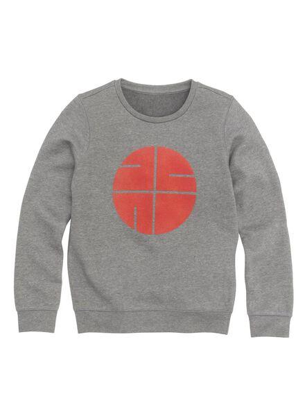 kindersweater donkergrijs donkergrijs - 1000011027 - HEMA