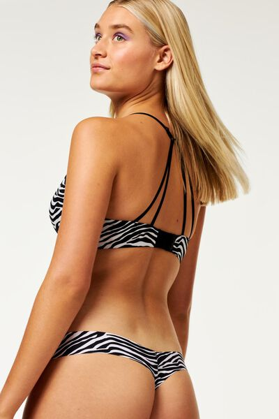 B.A.E. damesstring zebra zwart zwart - 1000021741 - HEMA