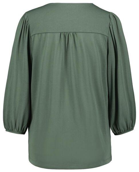 dames t-shirt groen groen - 1000024817 - HEMA