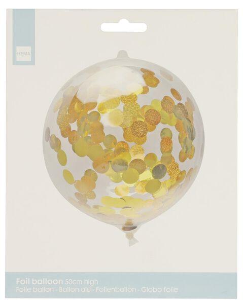 folieballon met confetti 50 cm - 14200193 - HEMA