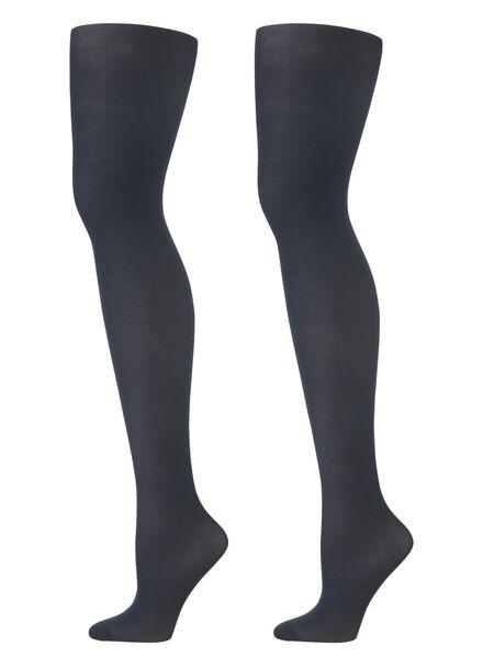 2-pak panty's 40 denier donkerblauw donkerblauw - 1000001142 - HEMA