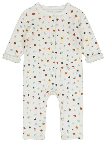 newborn jumpsuit padded gebroken wit gebroken wit - 1000024483 - HEMA