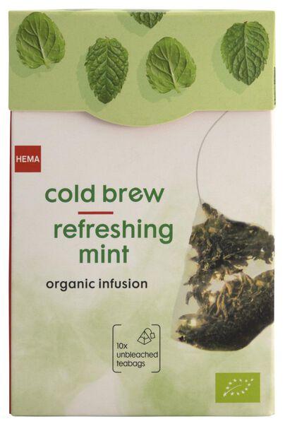 cold brew groene thee pepermunt bio - 10 stuks - 17120011 - HEMA
