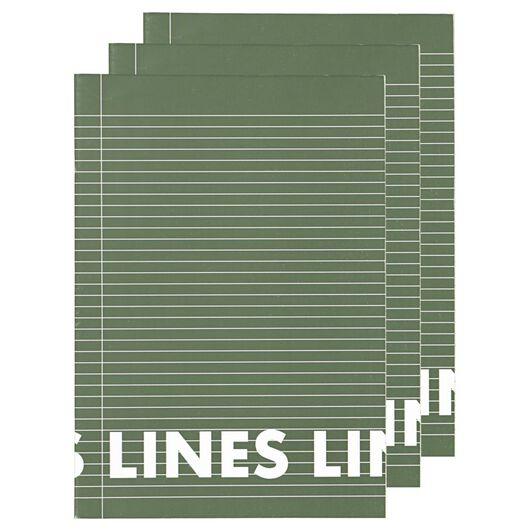 schriften A4 - gelinieerd - 3 stuks - 14101621 - HEMA