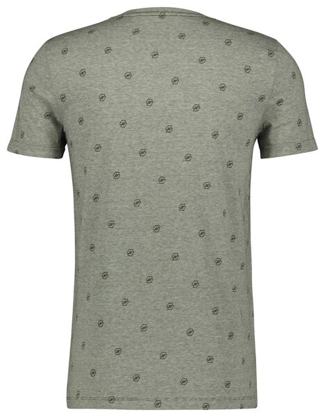 heren t-shirt legergroen legergroen - 1000022454 - HEMA