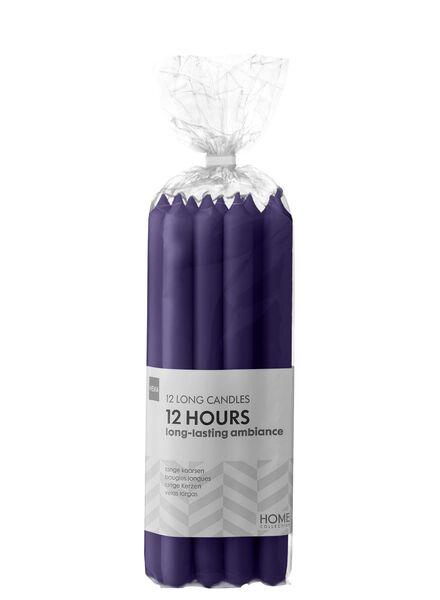 12-pak lange huishoudkaarsen paars 2.2 x 29 - 13503388 - HEMA