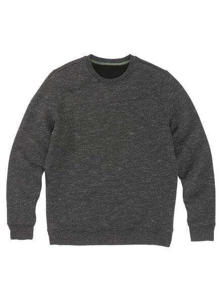 herensweater zwart zwart - 1000009031 - HEMA