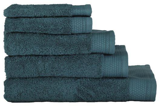 handdoeken - hotel extra zwaar donkergroen donkergroen - 1000015163 - HEMA