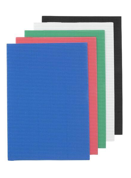 5-pak rubbel knutselkarton - 15910033 - HEMA