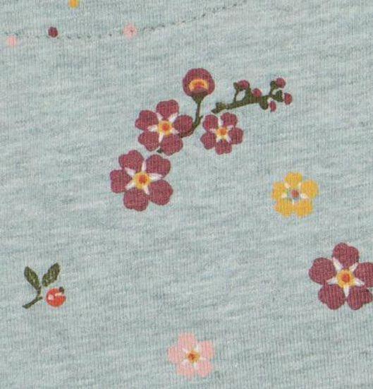 babyjurk organic katoen stretch bloemen blauw blauw - 1000020819 - HEMA
