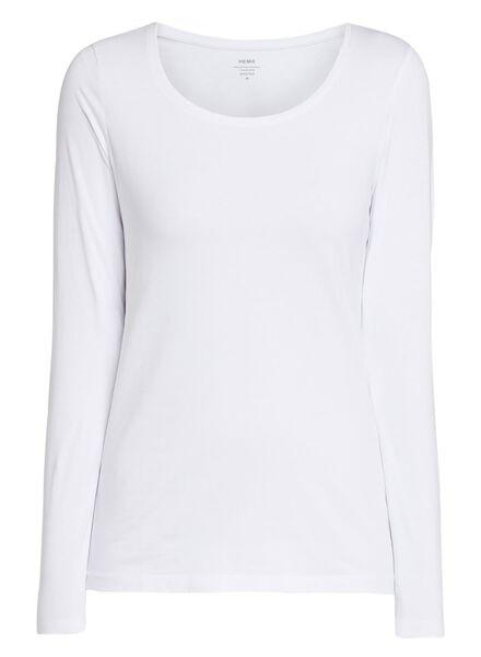 dames basic t-shirt wit wit - 1000005478 - HEMA