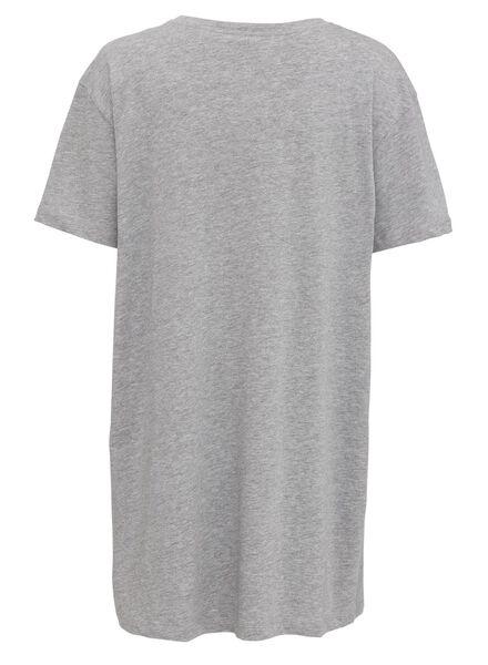 dames nachthemd katoen grijsmelange grijsmelange - 1000011752 - HEMA