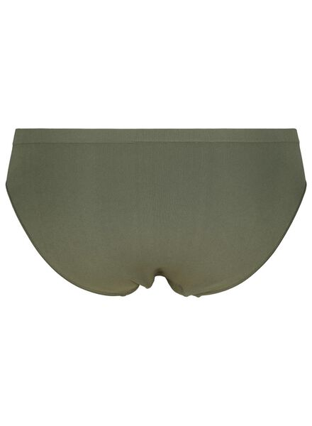 damesslip naadloos micro groen groen - 1000015700 - HEMA
