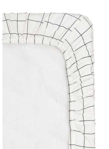 hoeslaken - 180 x 200 - zacht katoen - wit ruit - 5150010 - HEMA