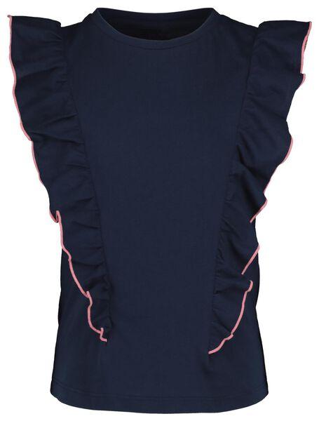 kinder t-shirt donkerblauw donkerblauw - 1000019041 - HEMA