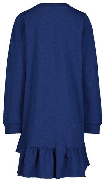 kinderjurk - recycled katoen donkerblauw donkerblauw - 1000017605 - HEMA