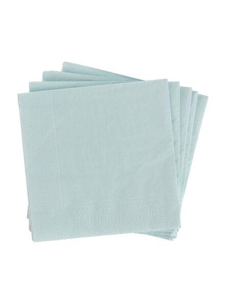 servetten - 24 x 24 - papier - mintgroen - 20 stuks - 14230032 - HEMA