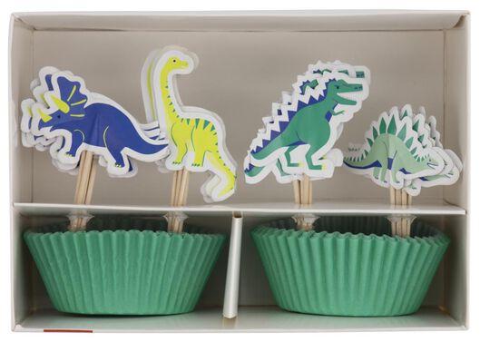 cupcake set dino 24 stuks - 14200431 - HEMA