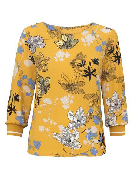 damesblouse geel geel - 1000011570 - HEMA