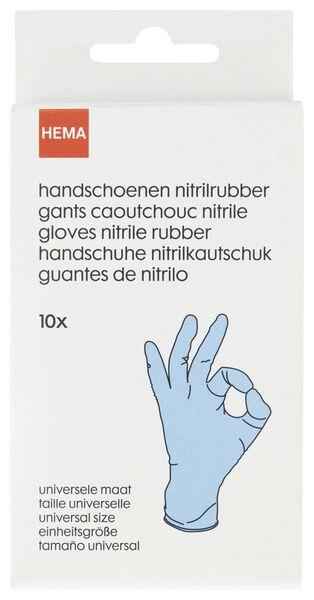 wegwerphandschoenen nitrilrubber - 10 stuks - 20520043 - HEMA