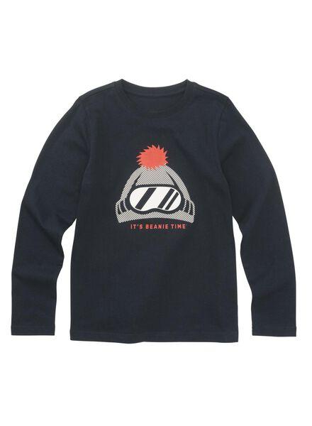 kinder t-shirt donkerblauw donkerblauw - 1000010717 - HEMA