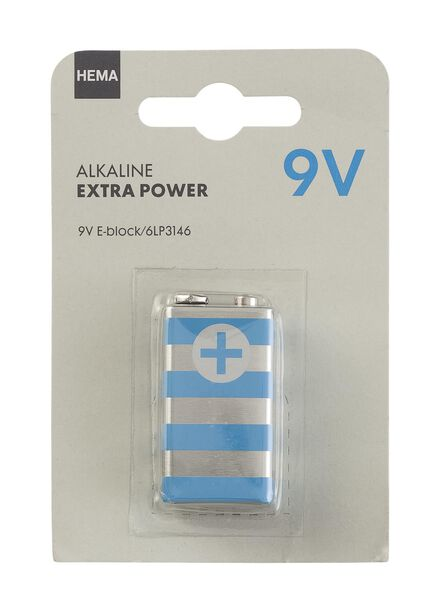 alkaline extra power 9V batterij - 41210507 - HEMA