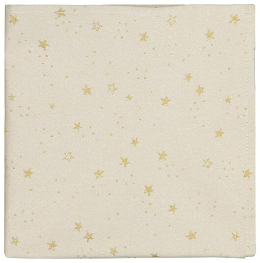 servetten 47x47 katoen - sterren goud - 2 stuks - 25640019 - HEMA