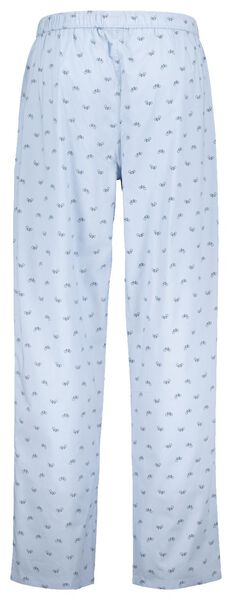 herenpyjamabroek poplin blauw blauw - 1000020363 - HEMA