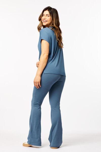 damesbroek biologisch katoen blauw S - 36290486 - HEMA