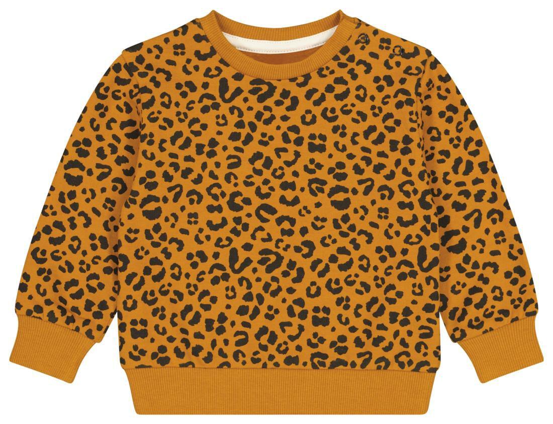 HEMA Baby Sweater Animal Bruin (bruin)