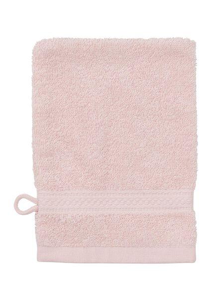 washand - zware kwaliteit - lichtroze uni lichtroze washandje - 5240010 - HEMA