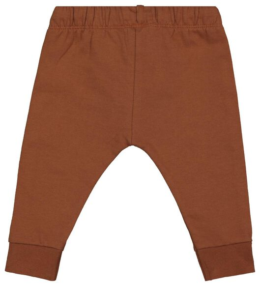 baby sweatbroek bruin 80 - 33107646 - HEMA