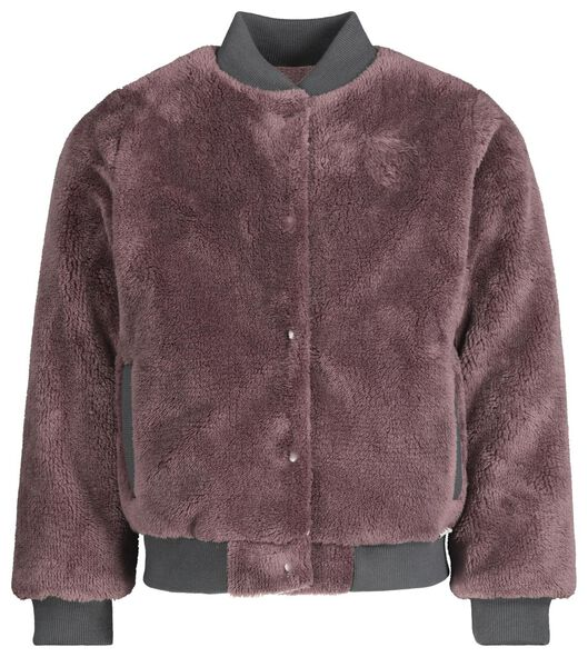 kinder bomberjack teddy paars paars - 1000020668 - HEMA