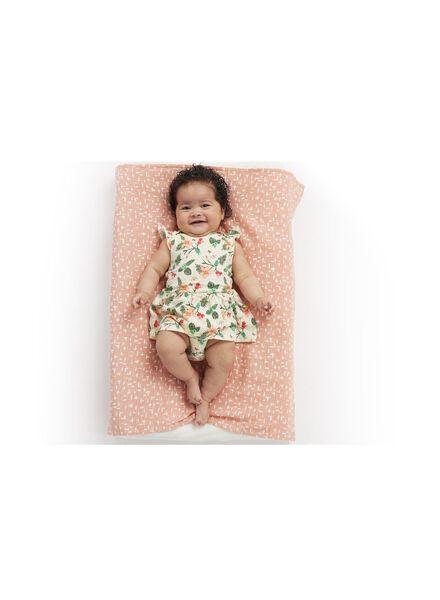 newborn romperjurk - katoen gebroken wit gebroken wit - 1000013448 - HEMA