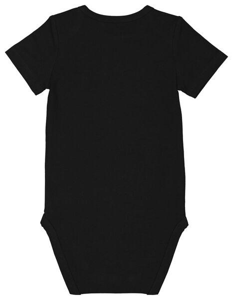 romper katoen stretch sleep all day zwart zwart - 1000023388 - HEMA