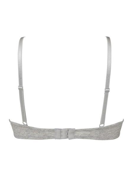 2-pak push-up bh's katoen grijsmelange grijsmelange - 1000006605 - HEMA