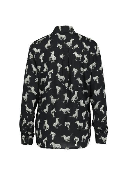 damesblouse zwart zwart - 1000015119 - HEMA