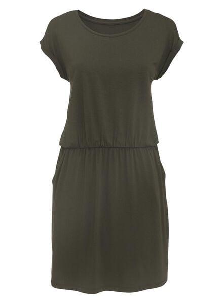 dames jurk olijf olijf - 1000007736 - HEMA
