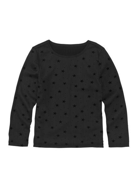 kinder t-shirt zwart zwart - 1000010967 - HEMA