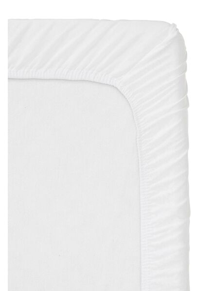 hoeslaken - jersey katoen - 90 x 220 cm - wit - 5100165 - HEMA