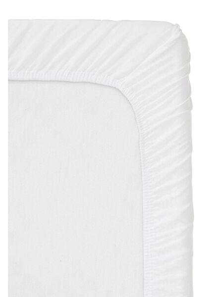 hoeslaken - jersey katoen - 180 x 220 cm - wit wit 180 x 220 - 5100166 - HEMA