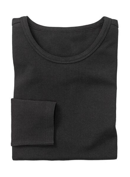 heren t-shirt slim-fit zwart - 1000005995 - HEMA