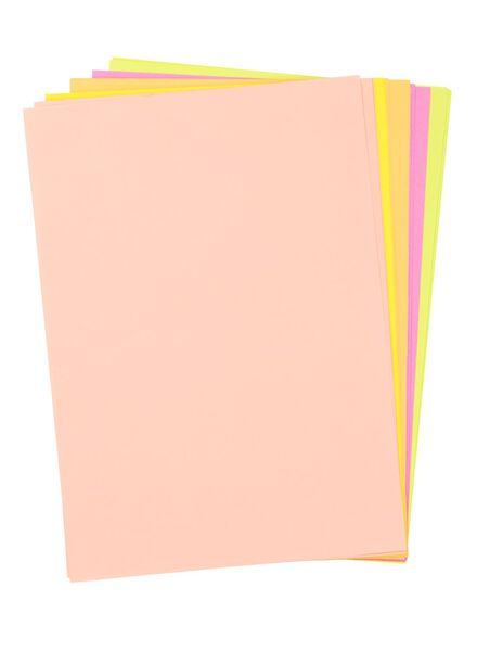 25-pak neonpapier - 15970025 - HEMA