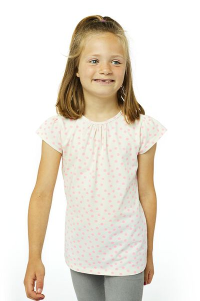 kinder t-shirt gebroken wit 146/152 - 30879456 - HEMA