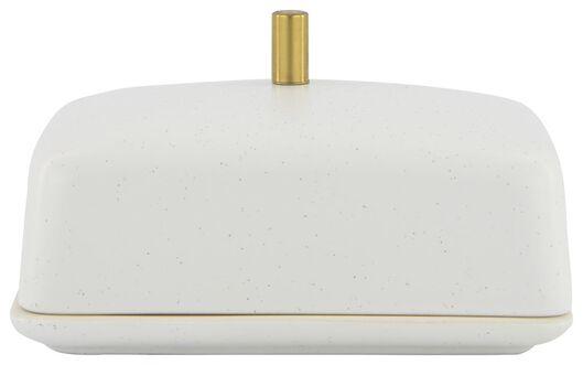 botervloot 9.5x14x5 keramiek wit - 25810122 - HEMA